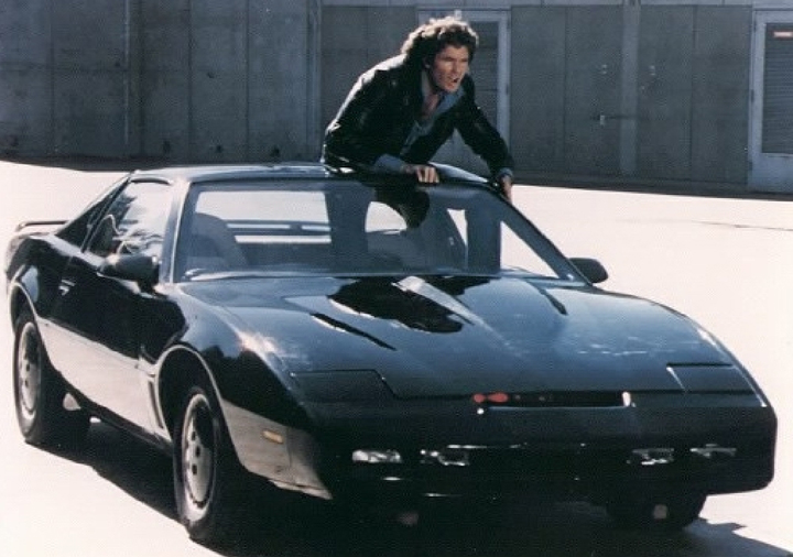 "David Hasselhoff and KITT in ""Knight Rider"", Cadillac Super Cruise"