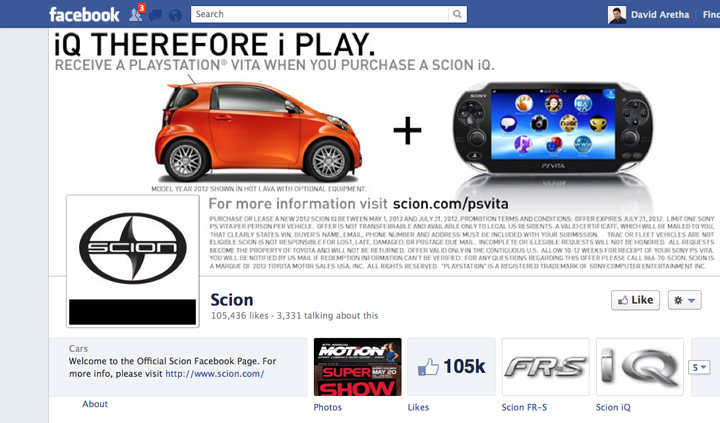 Scion Facebook page, Fall of Scion