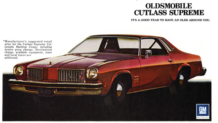 Image result for oldsmobile cutlass 1975 ad