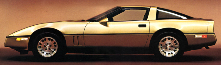1984 Corvette, 15-inch tires, Corvette Mystery Wheels