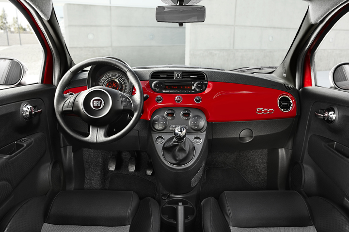 2012 Fiat 500 interior, Coolest Cars Under $18,000