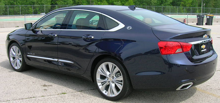 2014 Chevrolet Impala (rear three-quarters)