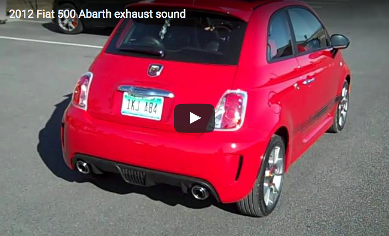 2012 Fiat 500 Abarth, Fiat 500 Exhaust