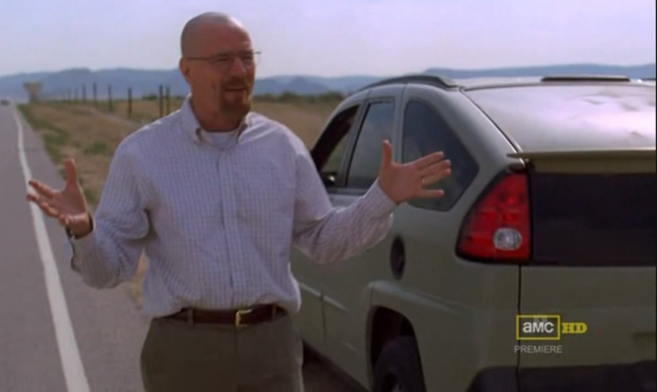 Breaking Bad (Pontiac Aztek), What did Walter White Drive?