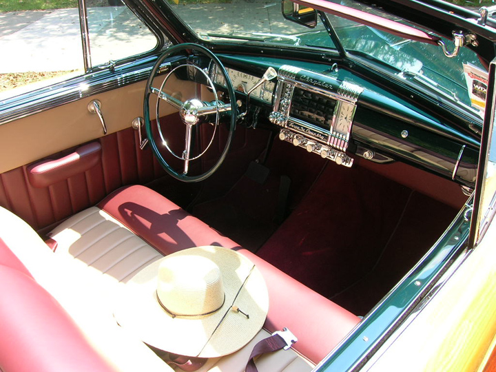 1948 Chrysler Town and Country convertible, interior