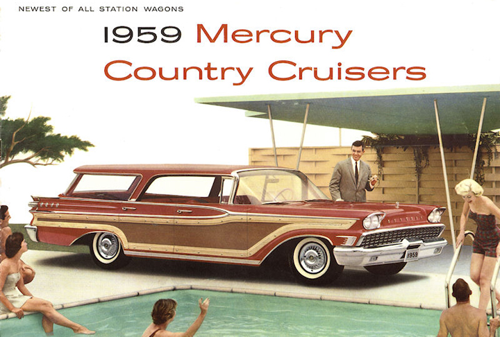 1959 Mercury Country Cruiser ad, Cars and Swimming Pools