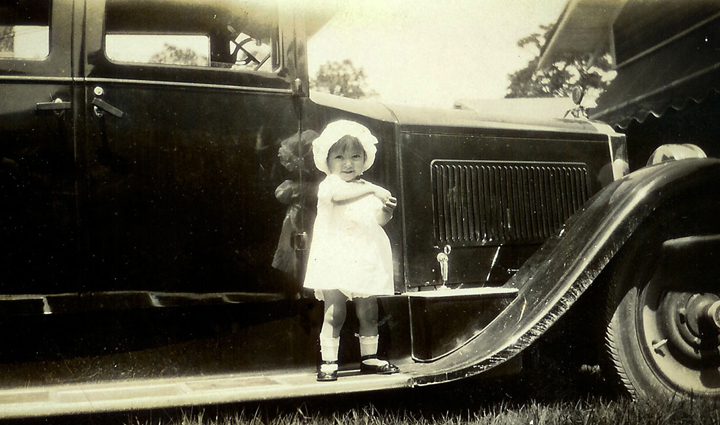 Little Girl on Running Board