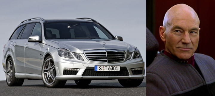 Mercedes-Benz E63 AMG Wagon, Star Trek Crewmembers