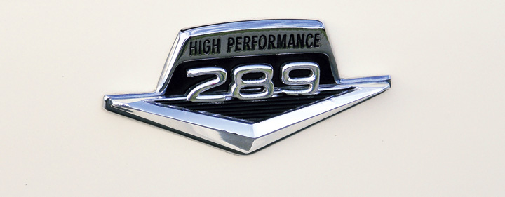 1963 Ford Fairlane, Engine Badge