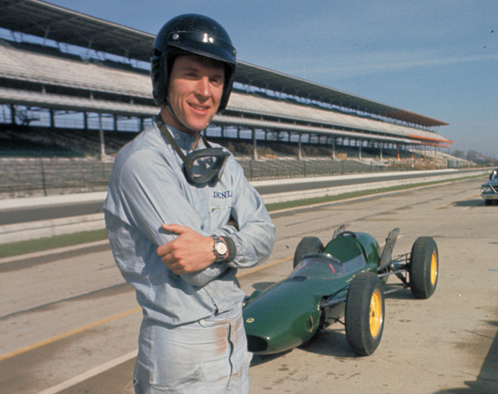 Dan Gurney and the Lotus 29.
