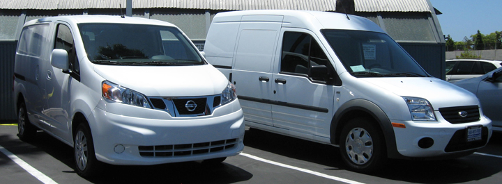 Nissan NV200 compared to Ford Transit Connect