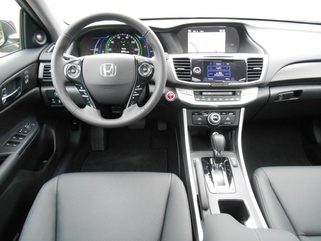 Inside, Accord Hybrid feels very much like any other Accord.