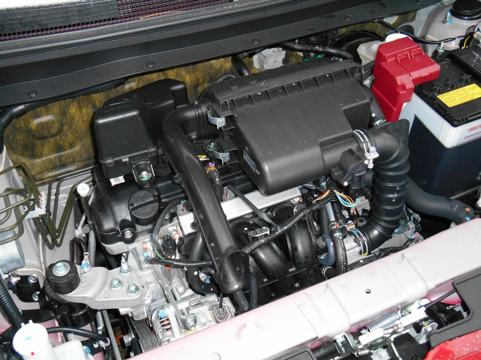 Tiny 1.2-liter three-cylinder engine combines with the optional CVT transmission for an EPA rating of 37 city/44 highway--and a lot of noise.
