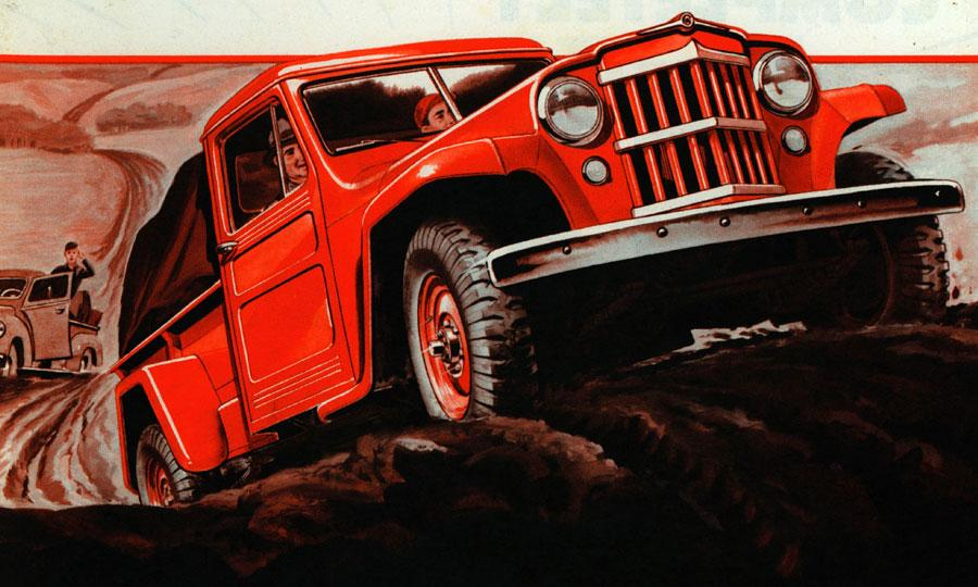 1960, Red Car Ads