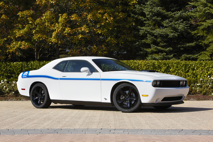 The Mopar '14 Challenger features Bright White or Gloss Black