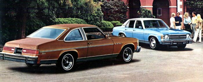 1975 Buick Skylark Hatchback and Apollo Sedan