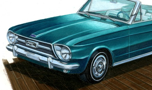 1965 Ford Mustang Drawings