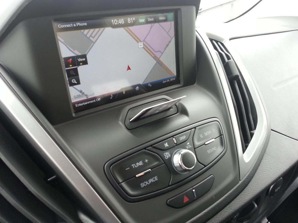 2015 Ford Transit console