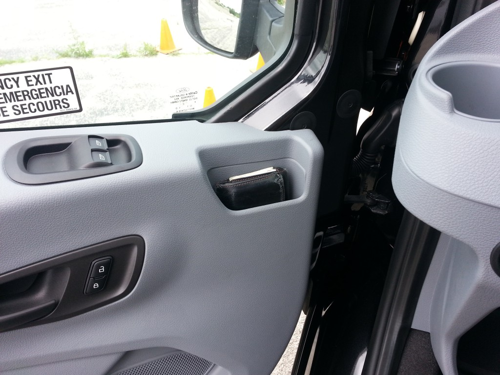 2015 Ford Transit door pocket