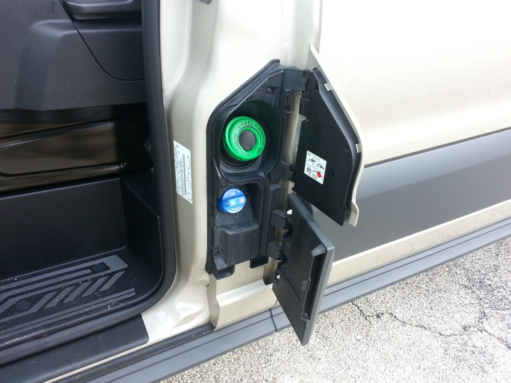 2015 Ford Transit diesel fuel filler door