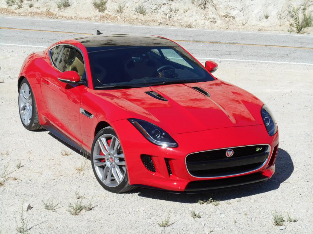 The 2015 Jaguar F Type Is Shown Here With The Available Glass Roof.
