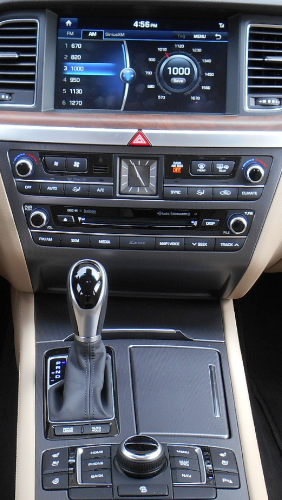 20015 Hyundai Genesis center console