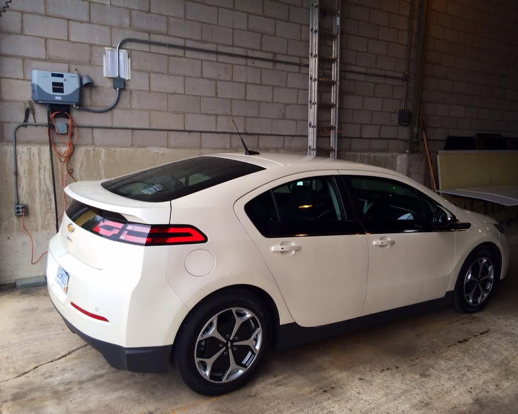 Chevrolet Volt At Level 2 Charging Station