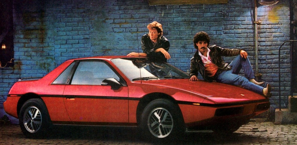 1985 Pontiac Fiero, Hall and Oates. Sporty Coupes of 1985
