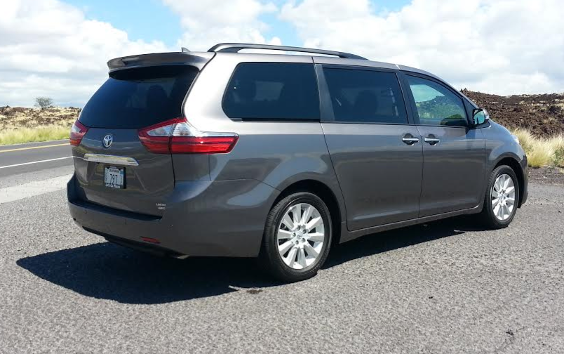 2015 Toyota Sienna rear view