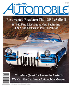"By John Biel An article about the restoration of a 1950s General Motors show car has won a writing award for Collectible Automobile® magazine, Consumer Guide® Automotive's companion publication devoted to motoring history. The Society of Automotive Historians (SAH) presented its annual Carl Benz Award to ""A Star Is Reborn: Restoring the 1955 LaSalle II Roadster,"" which appeared in the June 2013 issue of CA. The award recognizes excellence in the presentation of automotive history appearing in a periodical published in the previous calendar year, and is made jointly to the author and the publication. The article was written by Terry V. Boyce, a Michigan freelance writer whose work has appeared many times in Collectible Automobile®, as well as in other publications. It told the story of the LaSalle II roadster, which was built for the '55 GM Motorama shows, then plucked years later from a Detroit-area salvage yard by show-car collector Joe Bortz, who eventually had the car pieced together and restored. It was the second CA article penned by Boyce to claim the Benz Award. His article about the 1951 Buick XP-300, another Motorama car, won in 2011. Overall, it was the eighth CA article to earn the Benz Award. The presentation of the award was made on October 10 at the SAH's annual meeting and awards dinner at the Hershey Country Club in Hershey, Pennsylvania. Founded in 1969, the society claims a membership of more than 900 around the world. According to its website, the not-for-profit society exists to ""support the compilation and preservation of papers, organizational records, print ephemera, and images"" related to the history of motorized land transportation and to promote the publishing and teaching of automotive history."