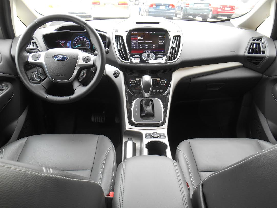 2014 Ford C-Max Energi cabin.