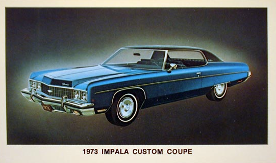 1973 Impala Custom Coupe, Full-Size Coupes of 1973