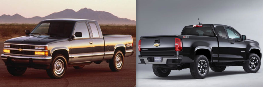 1990 Silverado and 2015 Colorado