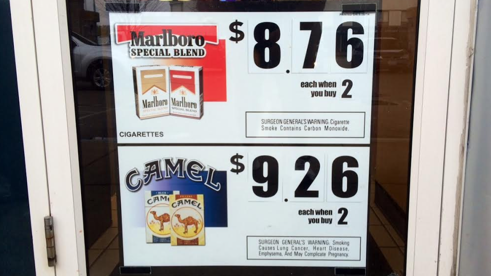 Cigarette prices.