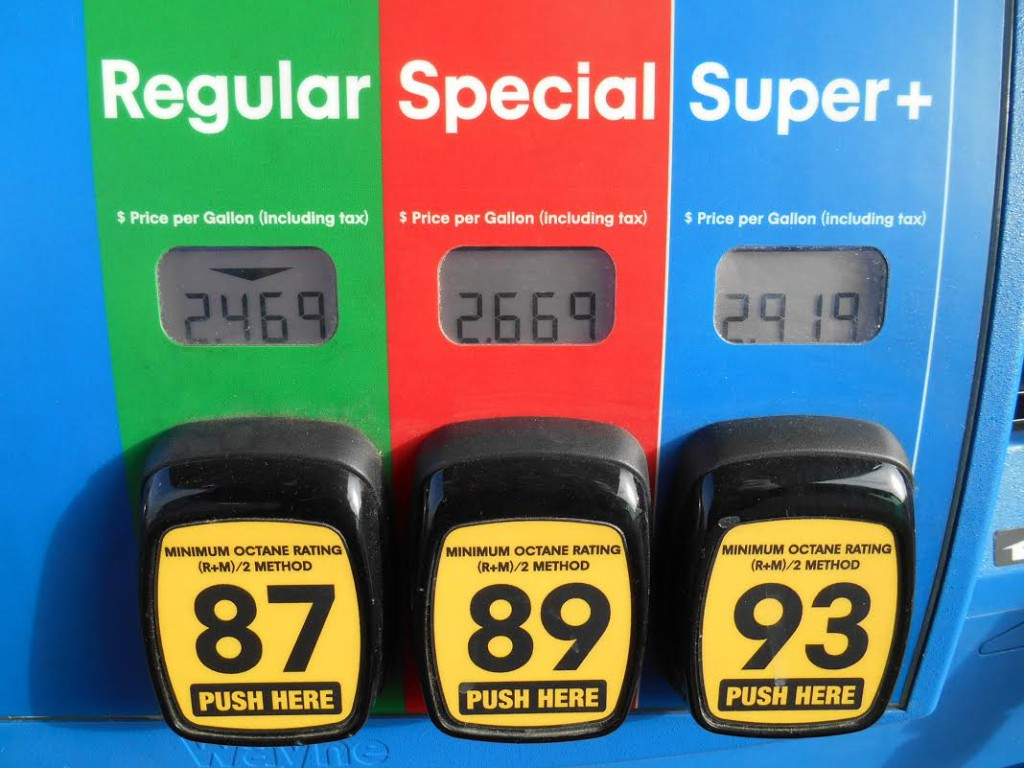 Gas Pump Fuel Grades