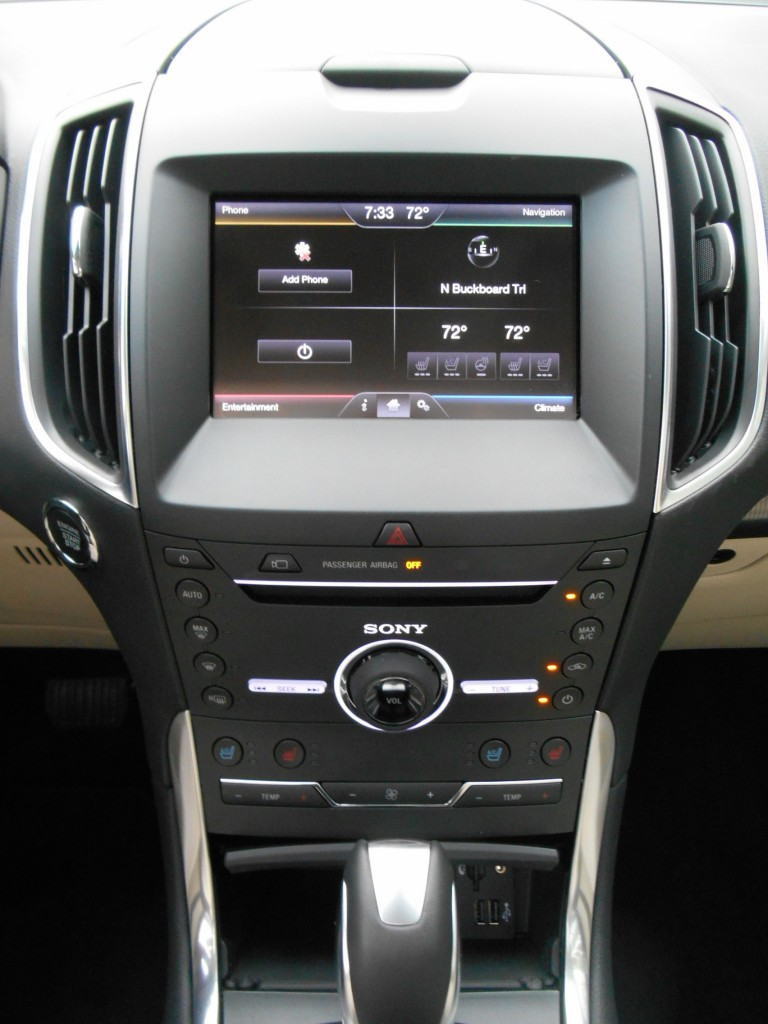2015 Ford Edge center stack
