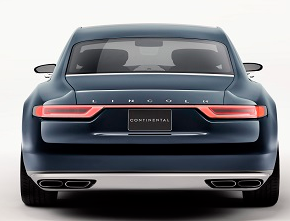 Lincoln Continental Concept Rear View