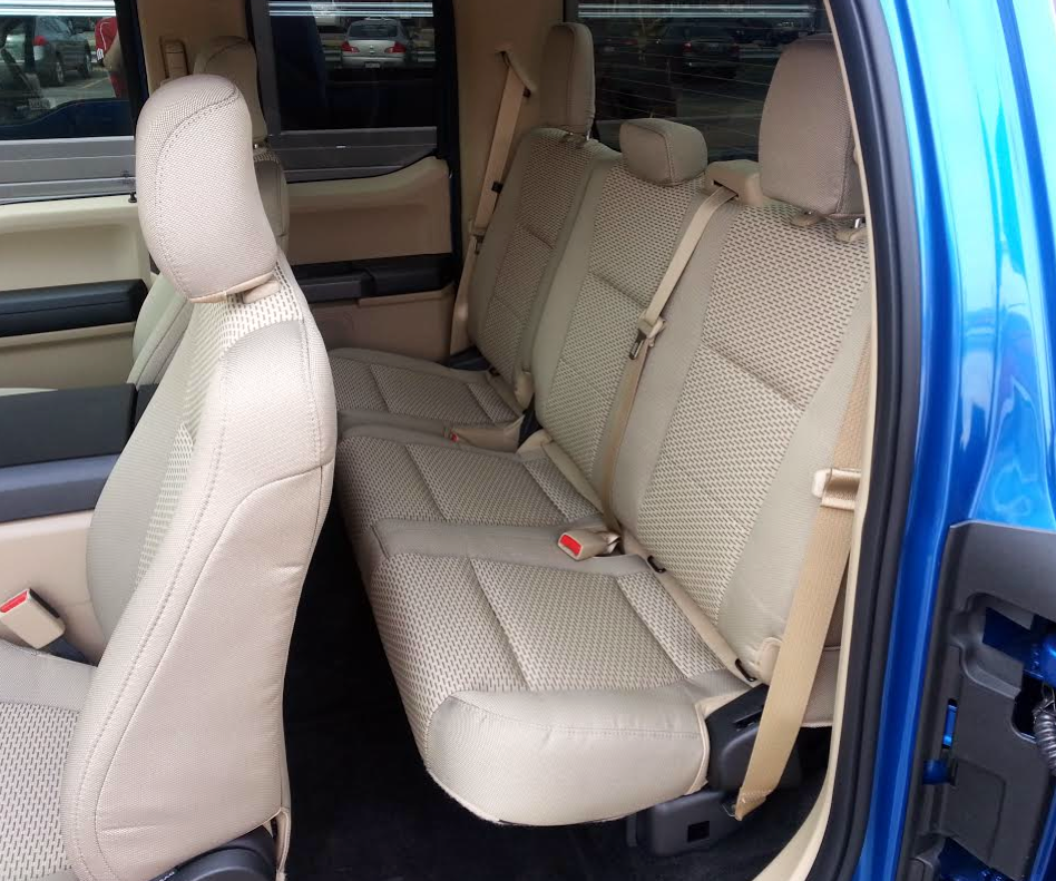 Ford F-150 Supercab rear seat