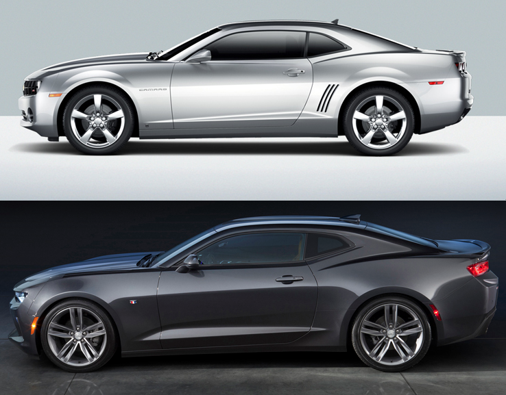 New vs. Old Camaro Comparison