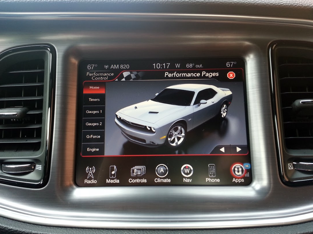 2015 Dodge Challenger Uconnect Touchscreen