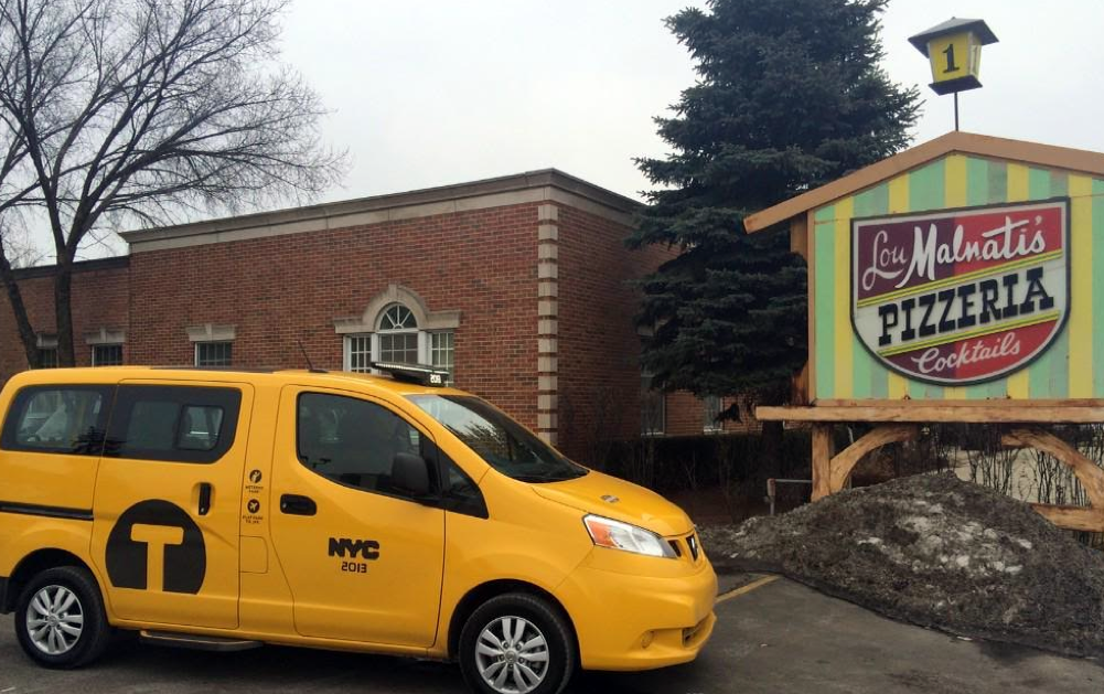Nissan NV 200 Taxi at Lou Malnati's