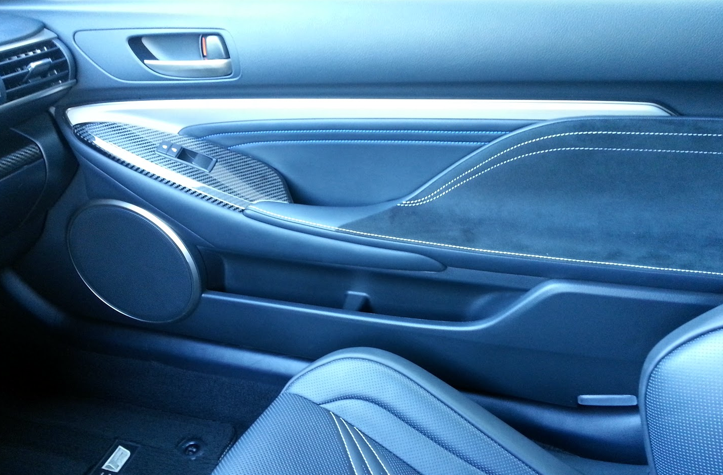 Lexus RC-F door panel