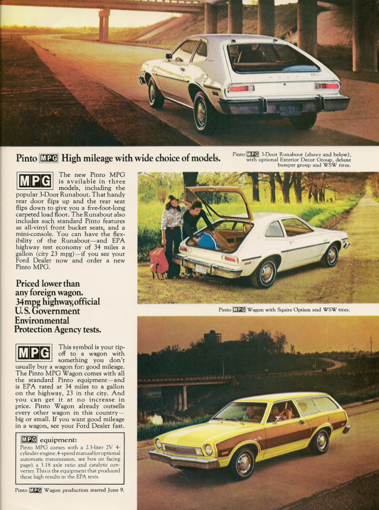 1975 Ford Pinto MPG Ad
