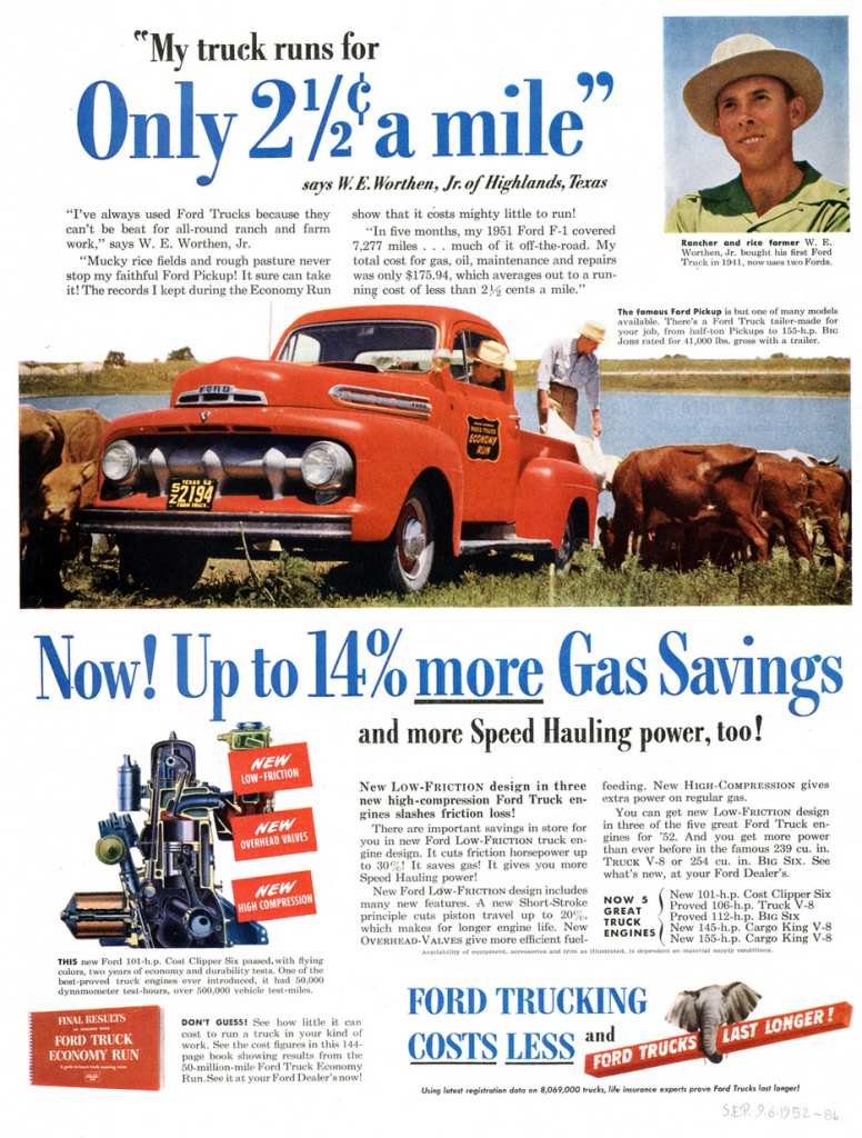 51 Ford Truck Ad