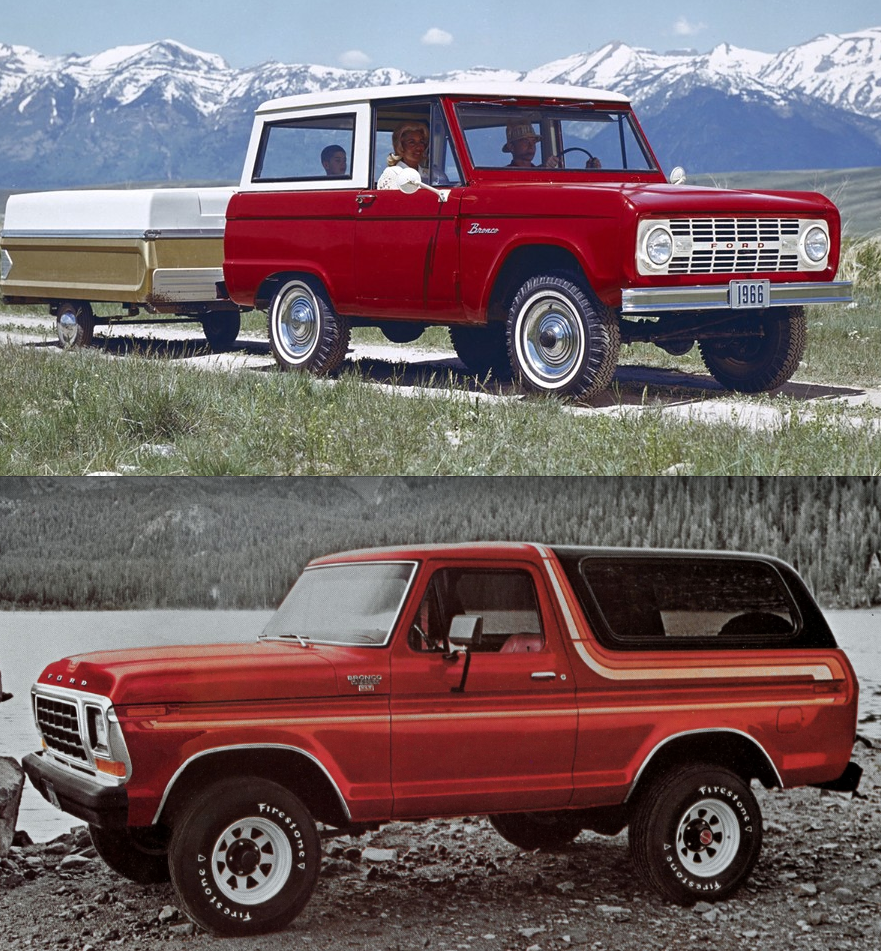 1966 and 1978 Ford Bronco