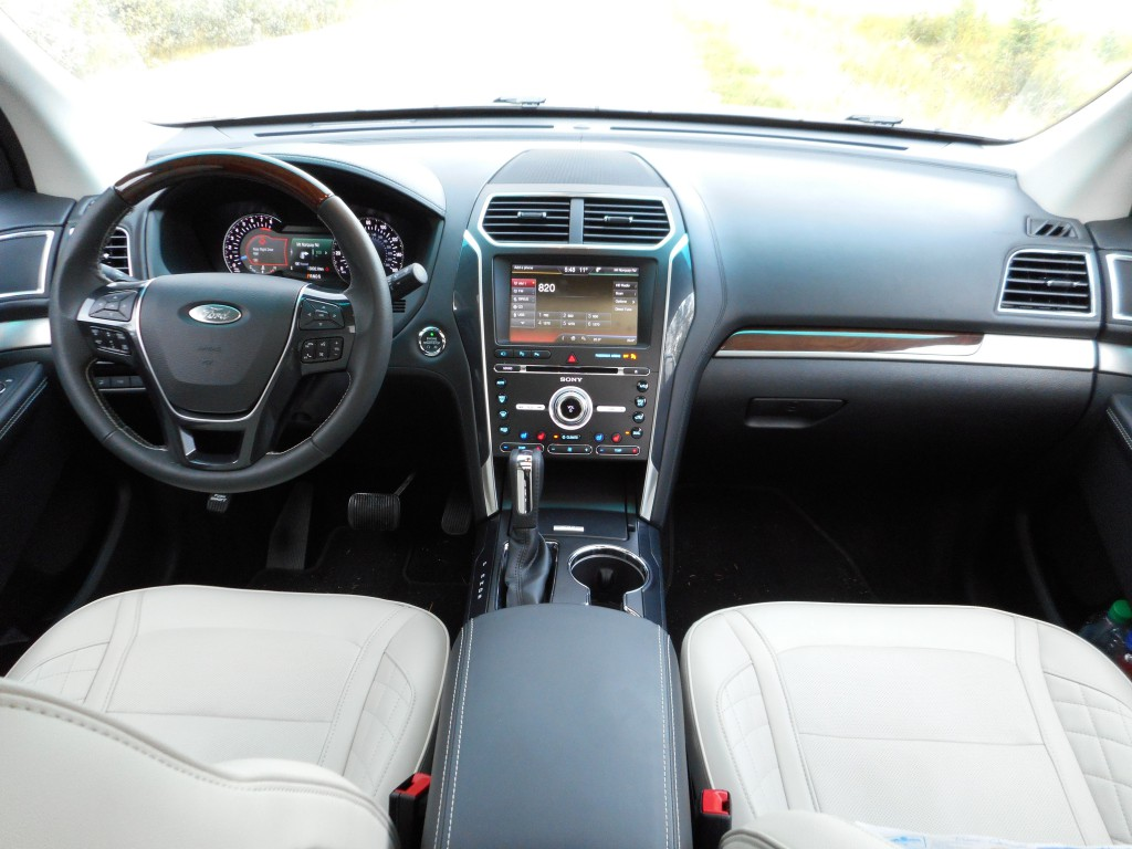 platinum s interior features a two tone color scheme real wood trim
