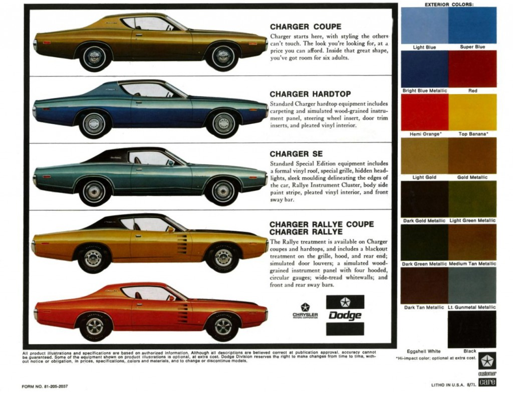 1972 Dodge Charger models
