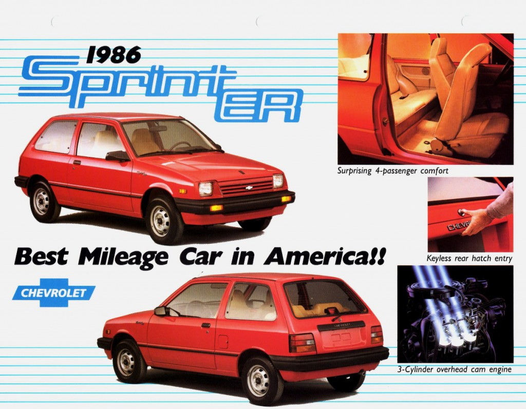1986 Chevrolet Sprint ER, Most-Fuel-Efficient Cars of All Time