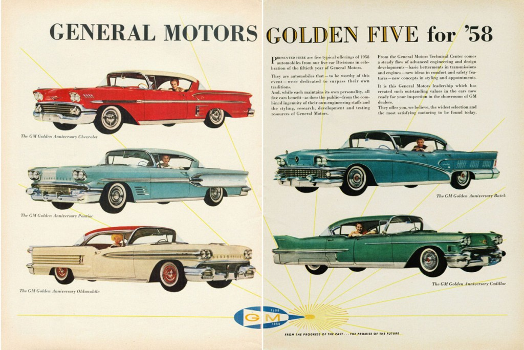 Full line madness 10 classic cars ads featuring the for General motors cars brands