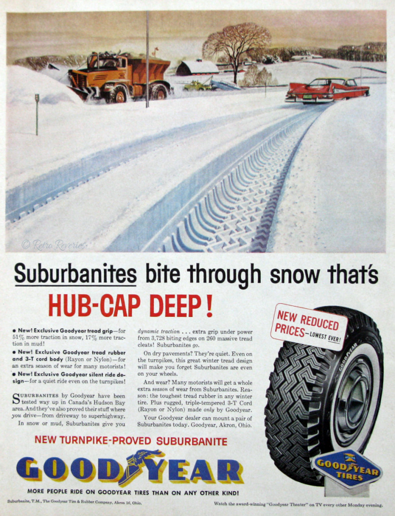 Vintage tire ad, Prepare Your Car for Winter